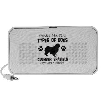 Clumber Spaniel dog designs Laptop Speakers