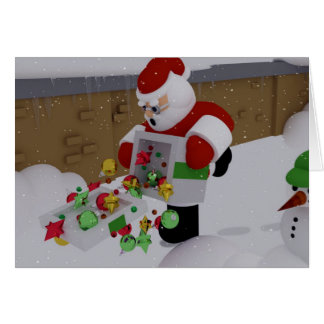 Clumsy Clause Greeting Card