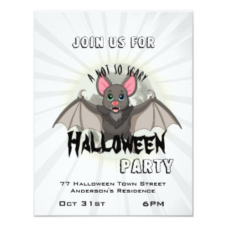 Clumsy, The Little Bat & A Not So Scary Halloween Card