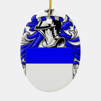 Clunn Coat of Arms Ceramic Oval Decoration
