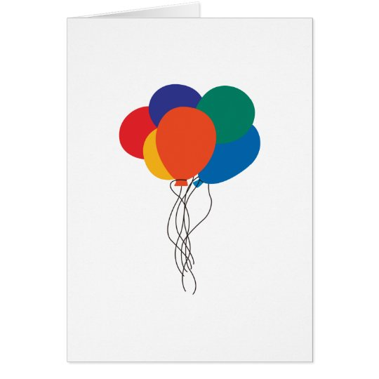 Cluster of Balloons Card
