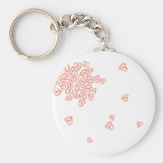 Cluster of Hearts Key Ring