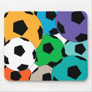 cluster of soccer balls mouse mat