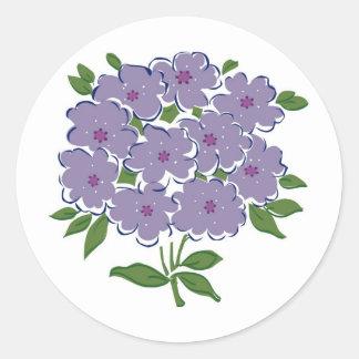 Cluster of Violets Image Round Sticker