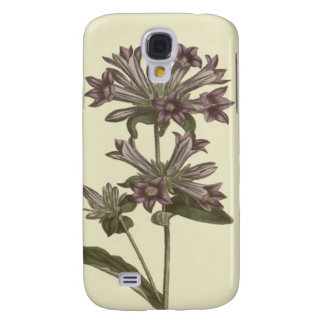 Clustered Bellflower Botanical Illustration Galaxy S4 Case