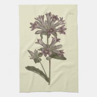 Clustered Bellflower Botanical Illustration Tea Towel