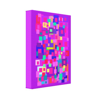 Clustered Squares Purple Canvas Prints