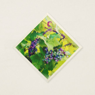 clusters of grapes 17 napkins2 paper serviettes