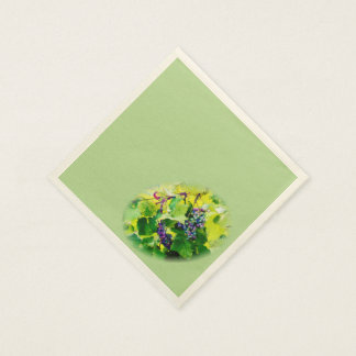 clusters of grapes 17 napkins disposable serviettes