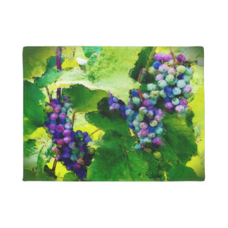 Clusters of grapes door mat