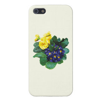 Clusters of Purple and Yellow Primroses Cover For iPhone 5