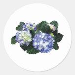 Clusters of Purple Hydrangea Round Sticker