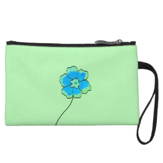 Clutch Bag Blue green Floral Custom