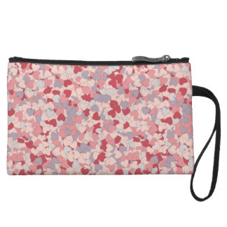 Clutch with hearts wristlets