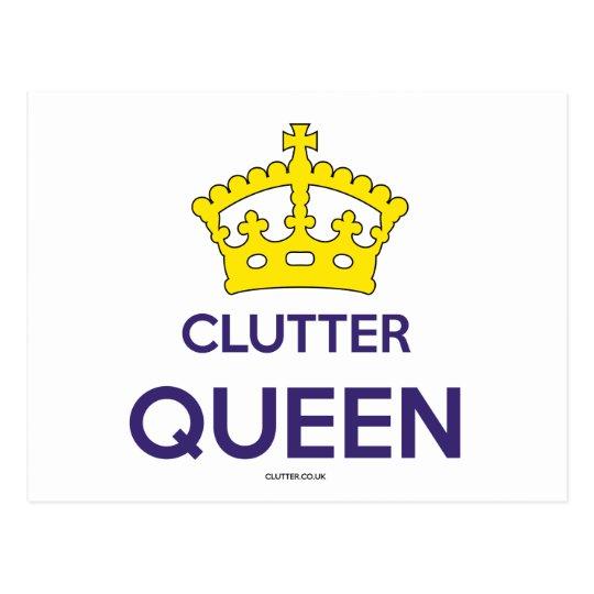 'Clutter Queen' Postcard