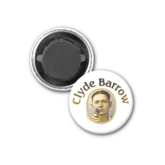 Clyde Barrow 3 Cm Round Magnet