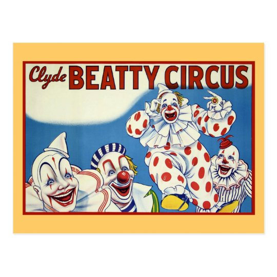 Clyde Beatty Vintage Circus Postcard
