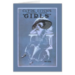 """Clyde Fitch's Greatest Comedy, """"Girls"""" Theatre Greeting Card"""