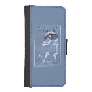 """Clyde Fitch's Greatest Comedy, """"Girls"""" Theatre iPhone SE/5/5s Wallet Case"""