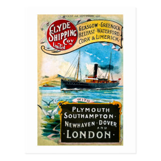 Clyde Shipping Company - Vintage Postcard