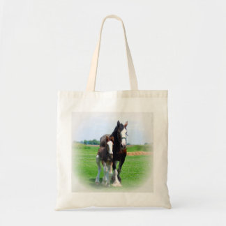 Clydesdale and Filly Tote Bag