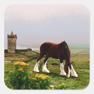 Clydesdale Castle Square Sticker