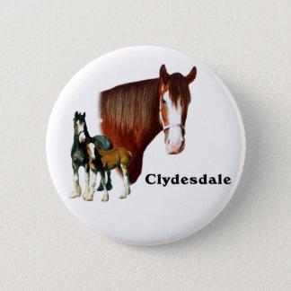 Clydesdale design 6 cm round badge