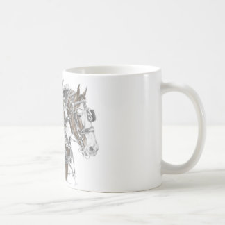 Clydesdale Draft Horse Team Coffee Mugs