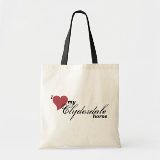 Clydesdale horse budget tote bag
