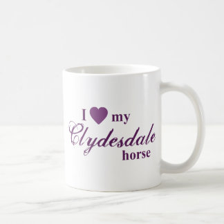 Clydesdale horse coffee mug