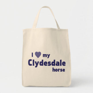 Clydesdale horse grocery tote bag