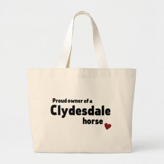 Clydesdale horse jumbo tote bag