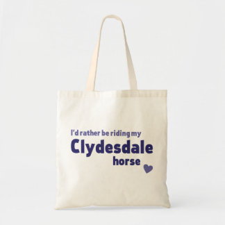 Clydesdale horse tote bags