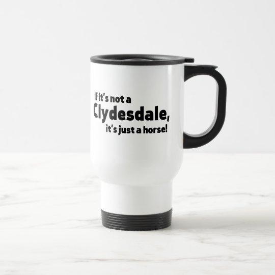 Clydesdale horse travel mug