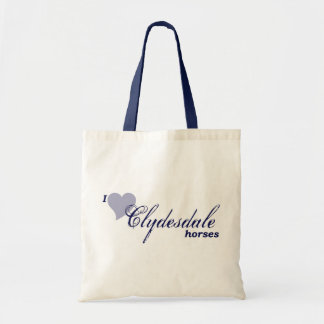 Clydesdale horses budget tote bag