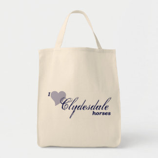 Clydesdale horses grocery tote bag