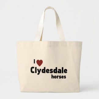 Clydesdale horses tote bag