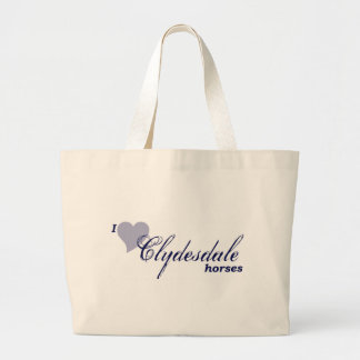 Clydesdale horses jumbo tote bag