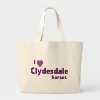 Clydesdale horses canvas bags