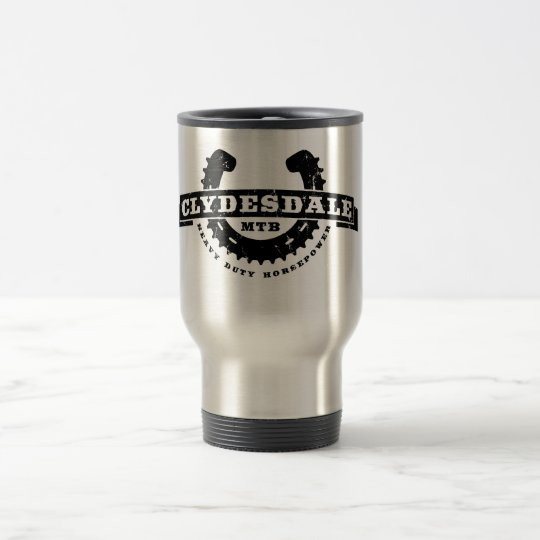 "Clydesdale MTB ""Heavy Duty Horsepower"" travel mug"