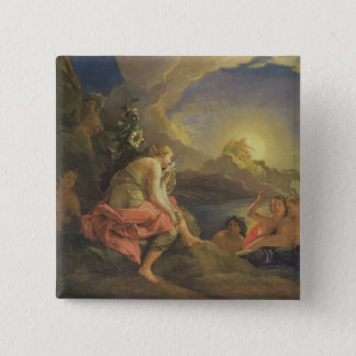 Clytie Transformed into a Sunflower, 1688 (oil on 15 Cm Square Badge