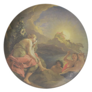 Clytie Transformed into a Sunflower, 1688 (oil on Plate