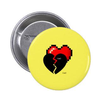 Cm3 Torn Heart Button