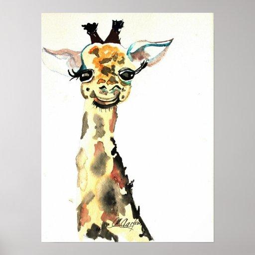 CMCarlson Cute Giraffe Poster