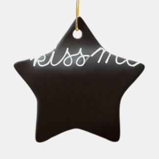 C'mon kiss me!! ceramic star decoration
