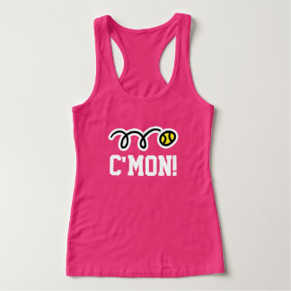C'MON pink tennis tank top for women and girls