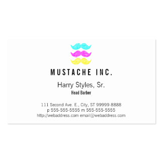 CMY Mustache Pack Of Standard Business Cards