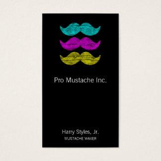 CMY Mustaches (letterpress style)
