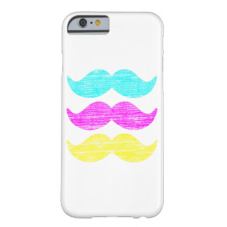 CMY Mustaches (letterpress style) iPhone 6 Case