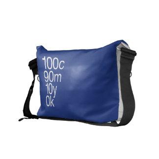 CMYK Blue Medium Messenger Bag